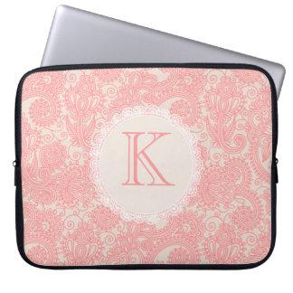 Elegant Monogram Paisley Designer Laptop Bag