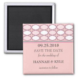 Elegant Monogram Save the Date Magnet