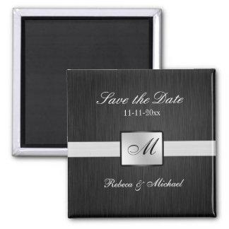 Elegant Monogram Save the Date Magnets