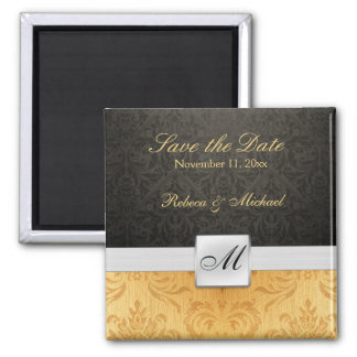 Elegant Monogram Save the Date Magnets