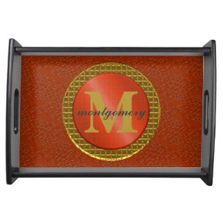 Elegant Monogram Serving Tray