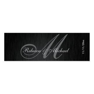 Elegant Monogram Wedding Favor Tags Mini Business Card