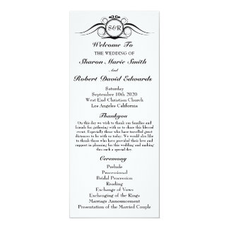 Elegant Monogram Wedding Program