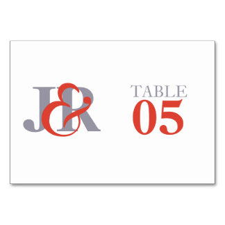 Elegant Monogram Wedding Table Number