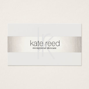 Esthetician business cards business card printing zazzle ca elegant monogram white modern faux silver striped business card colourmoves