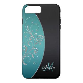 Elegant Monogram Zodiac Sign Cancer iPhone Case