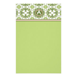 Elegant Monogrammed Green Celtic Stationery