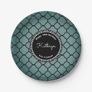 Elegant Moroccan Birthday Paper Plate