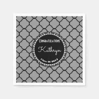 Elegant Moroccan Graduation Paper Napkin