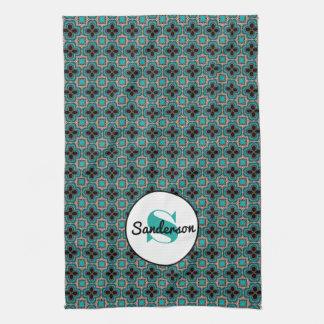 Elegant Moroccan w/Name & Monogram Kitchen Towel