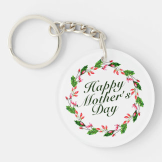 Elegant Mother's Day Floral Wreath | Keychain