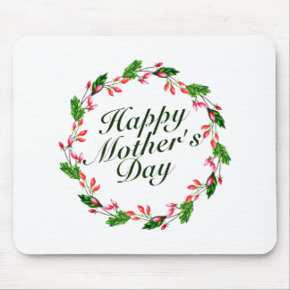 Elegant Mother's Day Floral Wreath | Mousepad