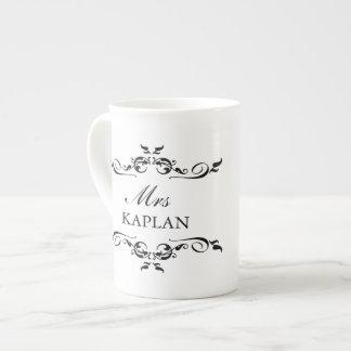 Elegant Mr or Mrs vintage ornament romantic style Tea Cup
