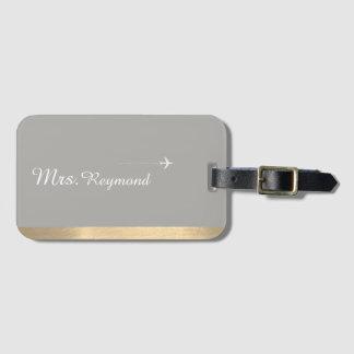 elegant Mrs. . gray Luggage Tag