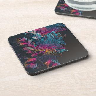 Elegant Multi-color Floral Design | Coaster