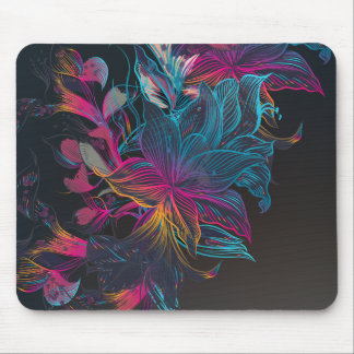 Elegant Multi-color Floral Design | Mousepad