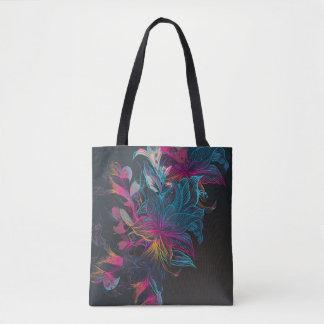 Elegant Multi-color Floral Design Tote Bag