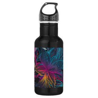 Elegant Multi-color Floral Design Water Bottle