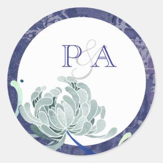 Elegant Mum Casual Wedding Monograms Classic Round Sticker