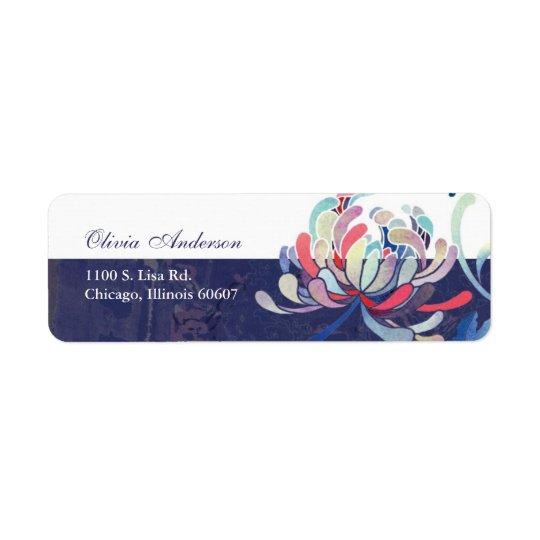 Elegant Mum Flower Simple Address Labels