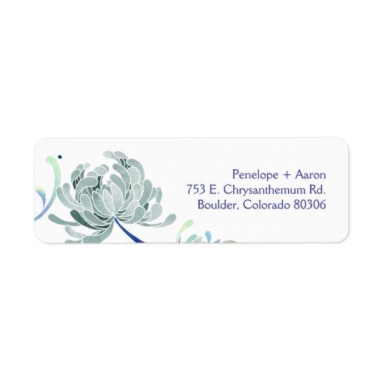 Elegant Mum Flower Wedding Return Address Labels