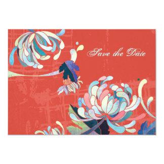 Elegant Mums Botanical Wedding Save the Date Card