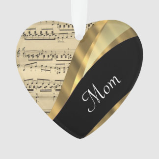 Elegant music sheet mothers day ornament
