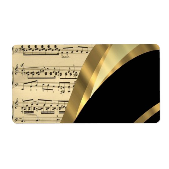 Elegant music sheet shipping label