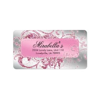 Elegant Nail Salon Makeup Artist Glitter Pink
