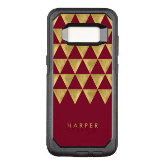Elegant Name Burgundy Triangle OtterBox Commuter Samsung Galaxy S8 Case