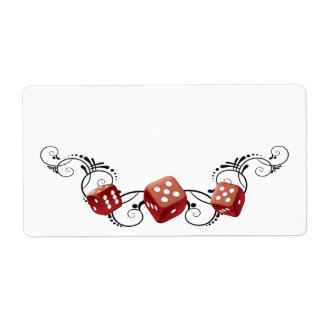 Elegant Name Tag With Dice Personalized Shipping Label
