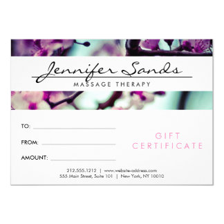 ELEGANT NAME with CHERRY BLOSSOMS Gift Certificate Card