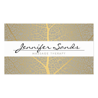 ELEGANT NAME with GOLD TREE PATTERN Pack Of Standard Business Cards