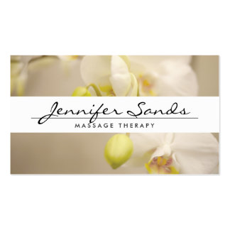 ELEGANT NAME with ORCHIDS Business Card Pack Of Standard Business Cards