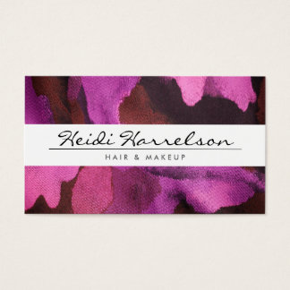 ELEGANT NAME with PINK FLORAL FABRIC Business Card