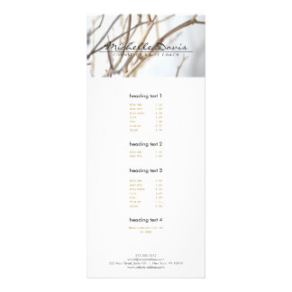 ELEGANT NAME with TREE BRANCHES Rack Card