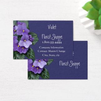 Elegant Nature Flower African Violet Plant Business Card