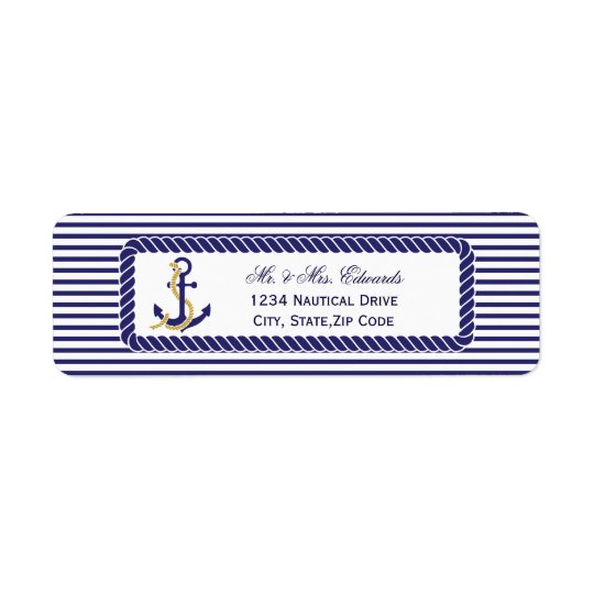 Elegant Nautical Wedding Navy Stripes