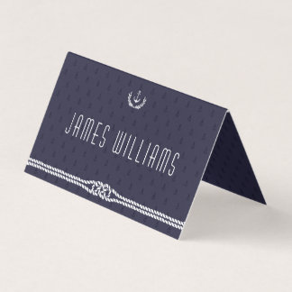 Elegant Nautical Wedding Place Cards Anchors Tent