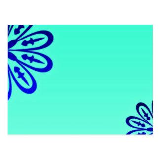 Elegant Navy blue blossom wedding gift Postcard
