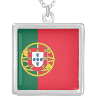 Elegant Necklace with Flag of Portugal