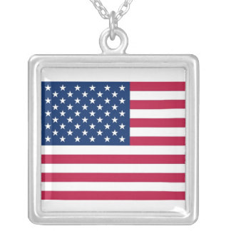 Elegant Necklace with Flag of the USA