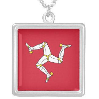 Elegant Necklace with Isle of Man Flag, U.K.