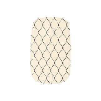 Elegant Neutral Color Fishnet Pattern Minx Nail Art