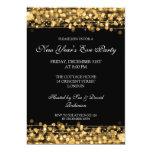 Elegant New Years Eve Party Sparkles Gold Custom Invites