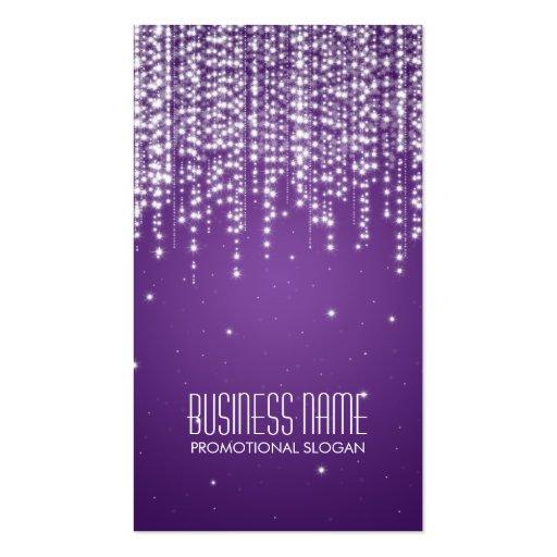Elegant Night Dazzle Purple Business Cards