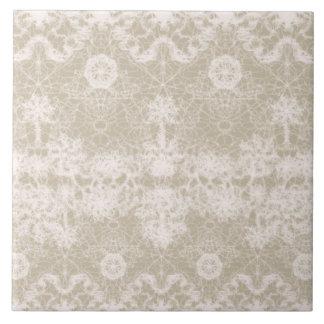 elegant, noble white lace pattern tile