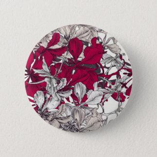 Elegant Nouveau Art vintage floral painting 2 Inch Round Button