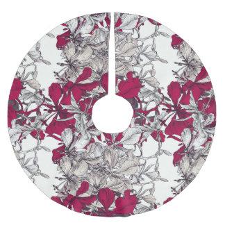 Elegant Nouveau Art vintage floral painting Brushed Polyester Tree Skirt