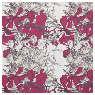 Elegant Nouveau Art vintage floral painting Fabric